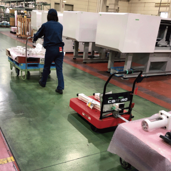 CarriRo キャリロ 物流支援ロボット 追従モデル カルガモモード