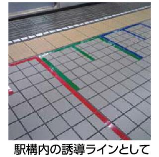 駅構内の誘導
