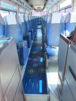 観光バスの床面
