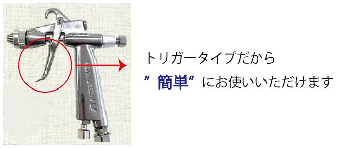 使い方:トリガーを引くだけの簡単操作