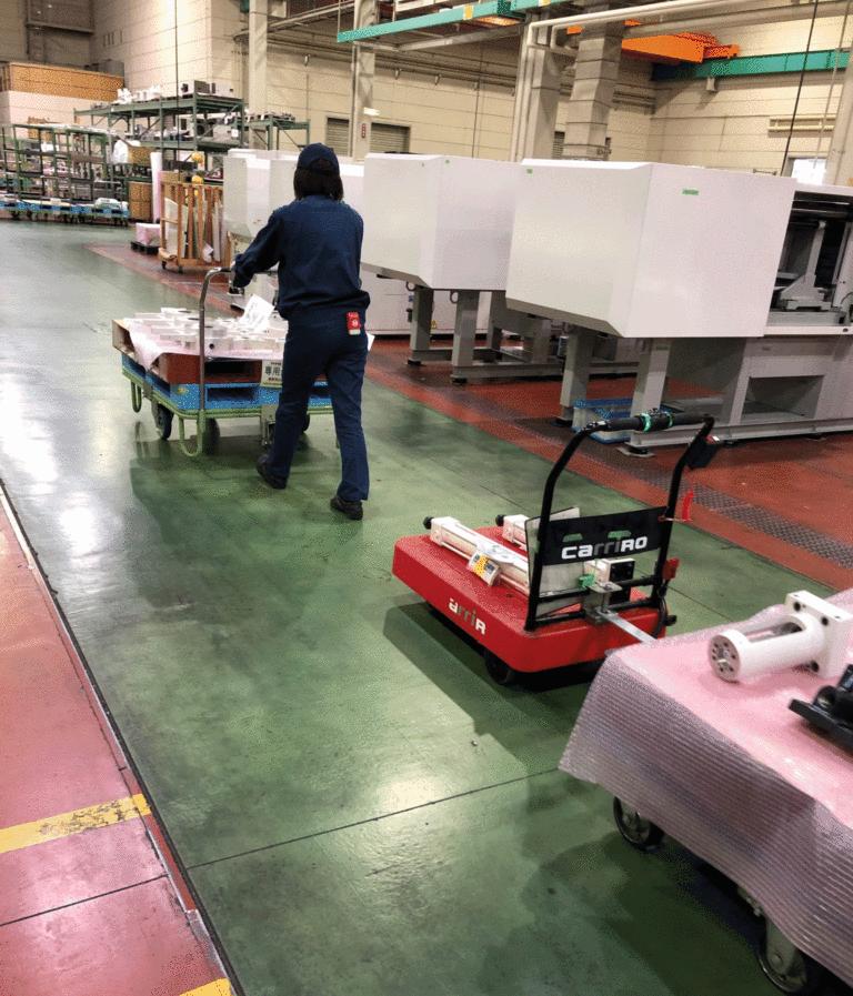 CarriRo キャリロ 運搬支援ロボット 物流支援ロボット