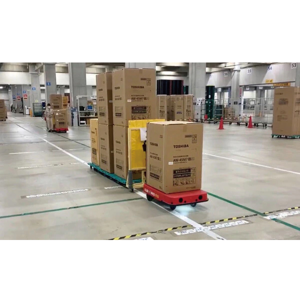 物流支援ロボットCarriRo®、東芝ロジスティクスの家電量販物流拠点で導入
