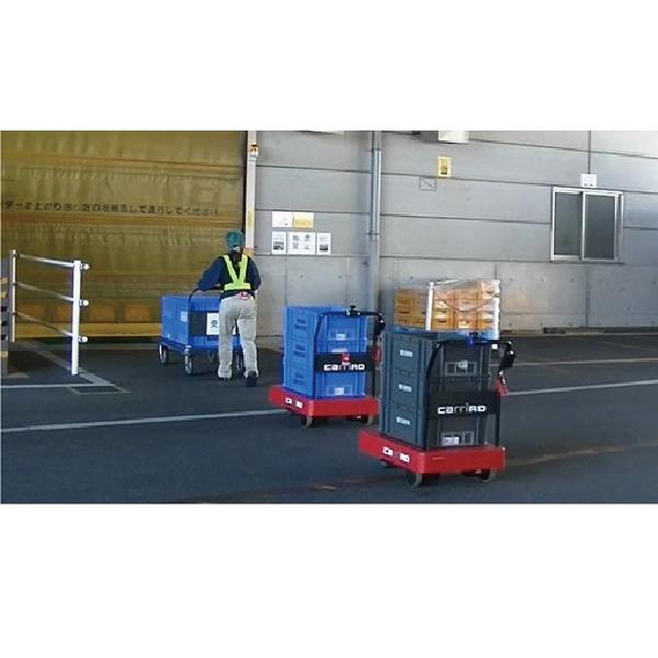物流ロボCarriRo®の自動追従走行による公道での宅配利用を提案