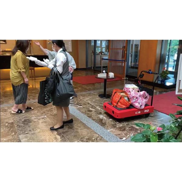 物流支援ロボットCarriRo®、伊香保温泉旅館で感染症対策として運用拡大